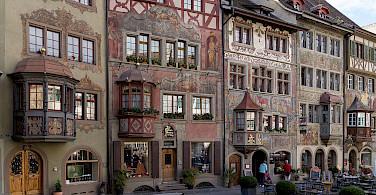 Rathausplatz in Stein am Rhein in Switzerland. Photo via Wikimedia Commons:Joachim Kohler Bremen