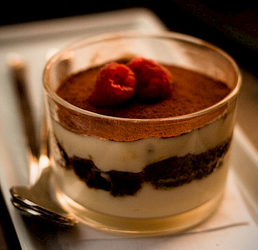 Tiramisu originates from Treviso, Italy. Photo via Flickr:Peter Alfred Hess