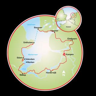 Around the IJsselmeer Map