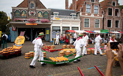 The famous cheese in Edam, North Holland, the Netherlands. Flickr:Philip Cotsford