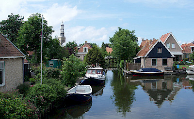 Biking through Hindeloopen, the Netherlands. Flickr:dymphieh