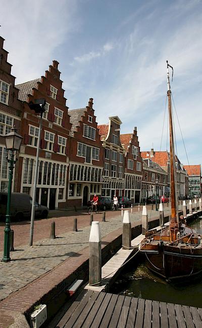 Beautiful gables in Hoorn, North Holland, the Netherlands. Flickr:bert knottenbeld