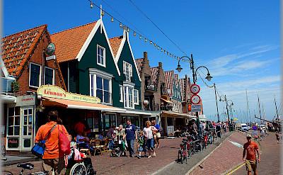 Biking through Volendam, the Netherlands. Flickr:Jose A.