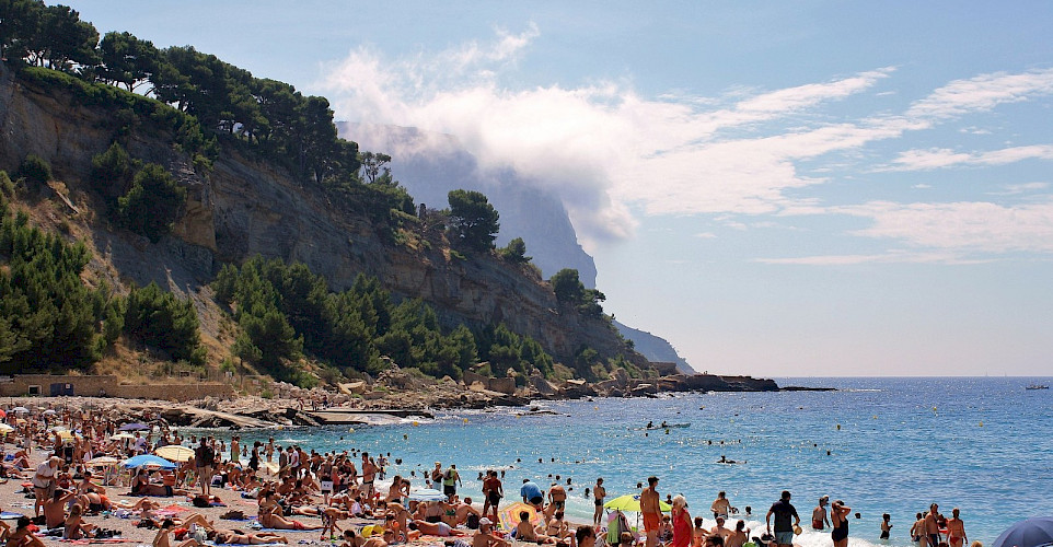 Swimming the great beaches at Cassis, part of the French Riviera of southern France. Flickr:Kylie & Rob (and Helen)