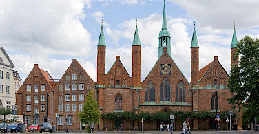 Great architecture on this bike tour, Hospital of the Holy Spirit, Lübeck, Germany. Photo via Wikimedia Commons:Mylius