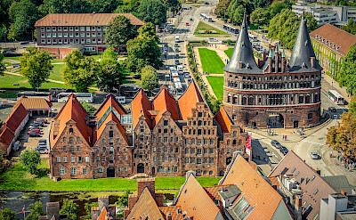Lubeck, Germany from above. Image by Achim Scholty from Pixabay