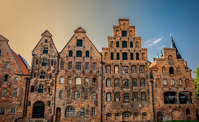 Lübeck houses. Photo by user:scholty1970