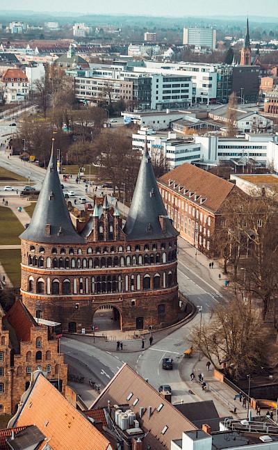 City gate, Lübeck. Photo by Moritz Kindler on Unsplash
