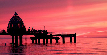 Sunset in Zingst, Germany. Photo via Flickr:journalistinbs