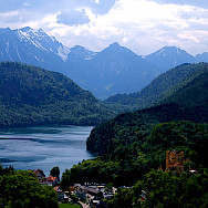 Alpsee with Hohenschwangau in Bavaria, Germany. Photo by William A. Franklin