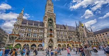 New Town Hall on Marienplatz in Munich, Germany. Photo via Flickr:Graeme Churchard
