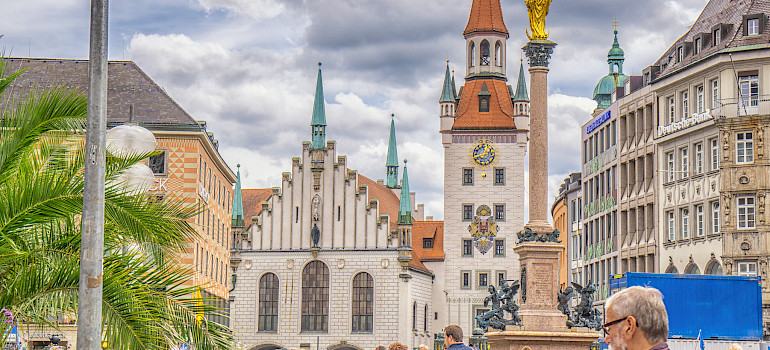 Marienplatz in Munich, Germany. Photo via Flickr:Graeme Churchard