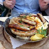 Bratwurst in Bavaria - biking fuel! Photo via Flickr:Shona