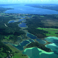 Oster Lakes (Osterseen), Bavaria, Germany. Photo via Wikimedia Commons:Michael Knall