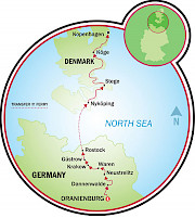 Berlin to Copenhagen Map