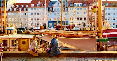 Nyhavn or New Harbor in Copenhagen, Denmark. Flickr:Moyan Brenn