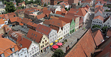 Old Town in Güstrow, district Rostock, Mecklenburg-Western Pomerania, Germany. Photo via Wikimedia Commons:Niteshift