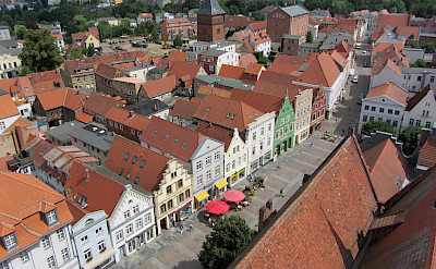 Old Town in Güstrow, district Rostock, Mecklenburg-Western Pomerania, Germany. Wikimedia Commons:Niteshift