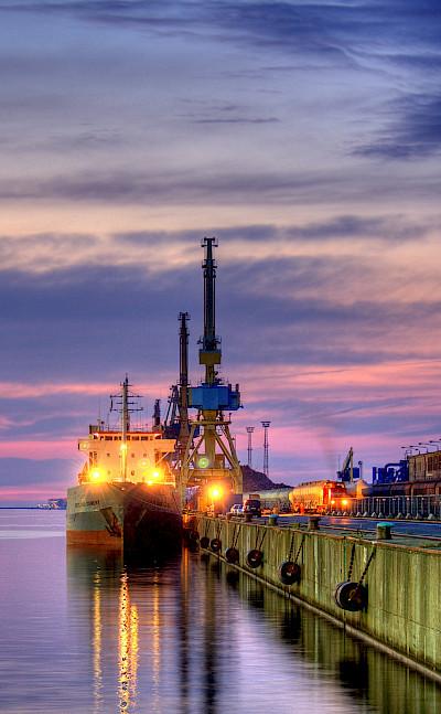 Harbor in Rostock, Mecklenburg-Vorpommern, Germany. Flickr:Maurice