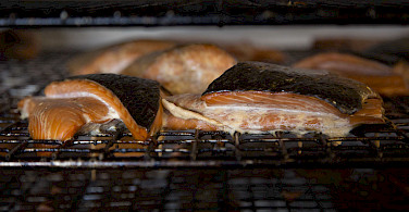 Smoked salmon <i>(Røgad laks)</i> at Sjaelland, Denmark. Photo via Flickr:News Oresund