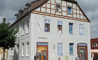 Former Coaching Inn in Waren, Mecklenburg-Western Pomerania, Germany. Wikimedia Commons:Doris Antony