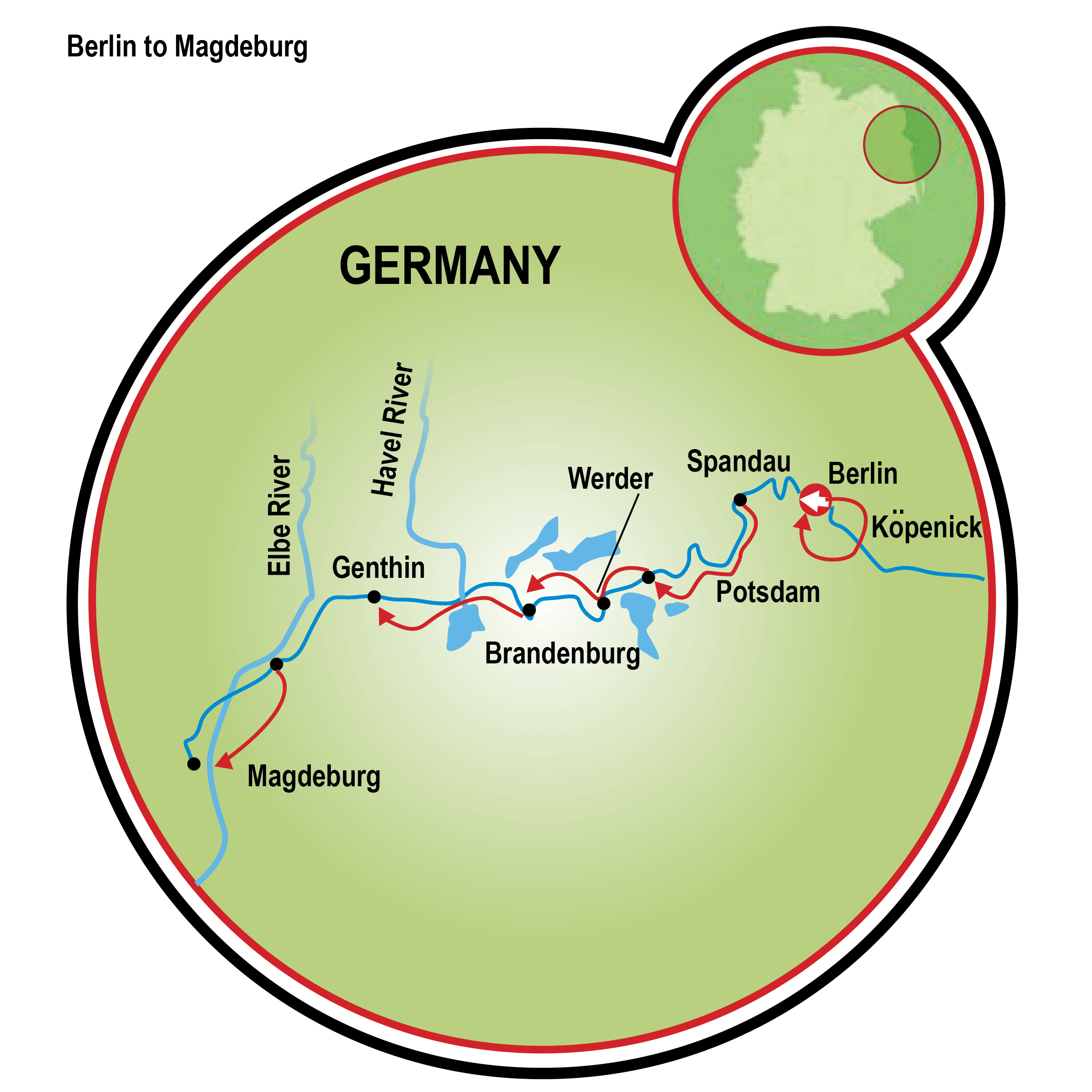 Magdeburg To Berlin Bike And Barge Tour Germany Tripsite