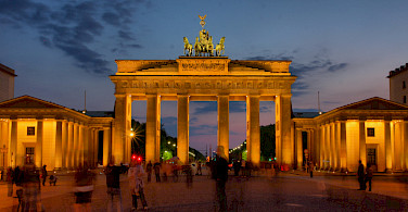 Brandenburg Gate in Berlin, Germany. Photo via Flickr:Roman Lashkin