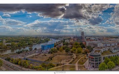 Biking through Magdeburg, Germany. Photo via Flickr:Patrick Seifert Fotografie