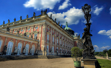 Neues Palais in the former royal gardens of Sanssouci, Potsdam, Germany. Photo via Wikimedia Commons:Wolfgang Staudt