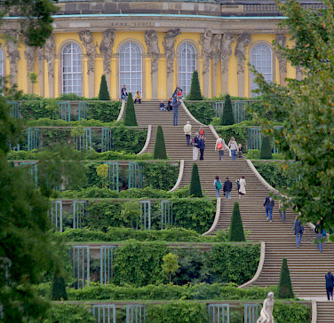 Schloss Sanssouci in Potsdam, Germany. Photo via Flickr:extranoise