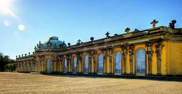 Schloss Sanssouci in Potsdam, former Summer Palace of Frederick the Great, King of Prussia. Photo via Flickr:Wolfgang Staudt