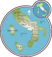Bologna to Tropea Map