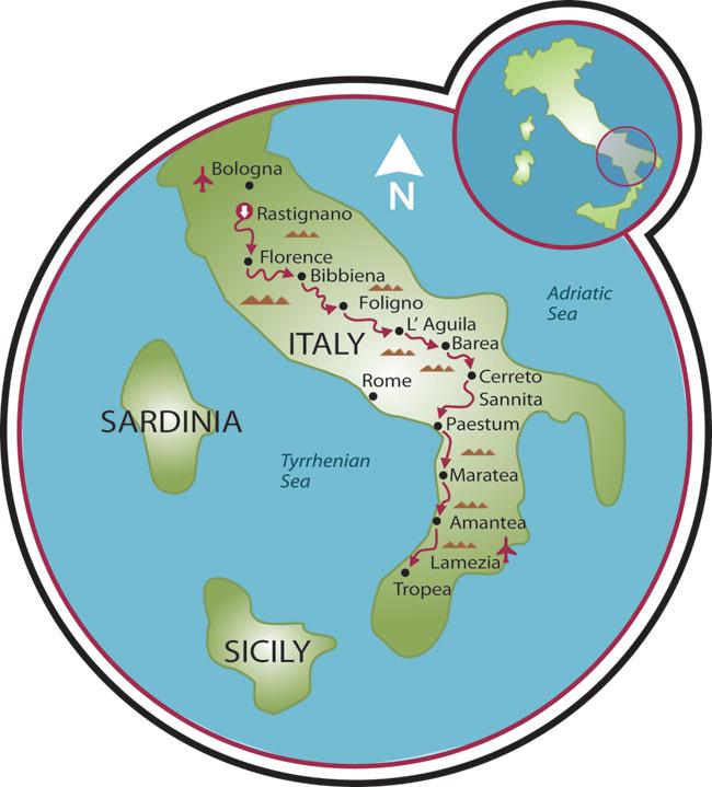 Bologna To Tropea Road Bike Tour Italy Tripsite