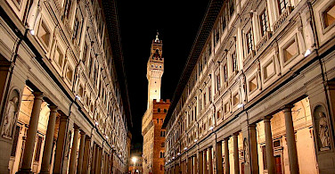 Uffizi Gallery in Florence, Tuscany, Italy. Photo via Wikipedia: Chris Wee