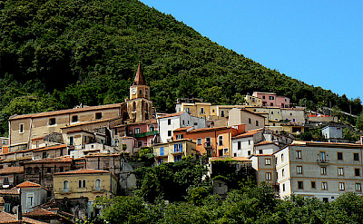Cycling through Maratea, Basilicata, Italy. Photo via Flickr:Mozzercork