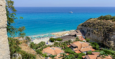 From bike to beach in Tropea, Calabria, Italy. Photo via Wikimedia Commons:Norbert Nagel