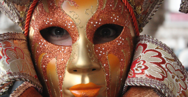 Traditional mask worn during Carnevale in Venice.