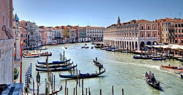 View over Grand Canal, Venice, Venezia, Italy.