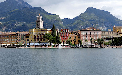 Riva del Garda on the Lake in Trentino Alto Adige, Italy. Photo via Wikimedia Commons:High Contrast