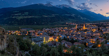 Mountains and valleys in Silandro (Schlanders in German), South Tyrol, Italy. Photo via Flickr:Arnold Unterholzner