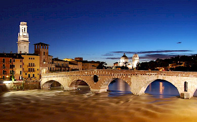 Ponte Pietra in Verona, Italy. Photo via Wikimedia Commons:Fabio Becchelli