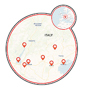 Bolzano a Veneza Mapa