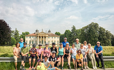 Group shot by the Palladian villas on the Bolzano to Venice Bike Tour.