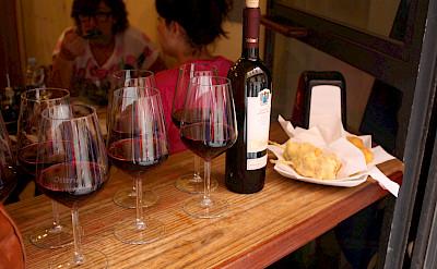 Wine tasting at an osteria. Flickr:Mark Doliner