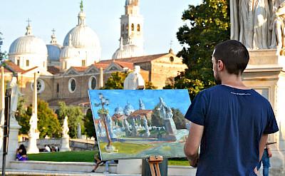 Painter in Padua (Padova), Italy.