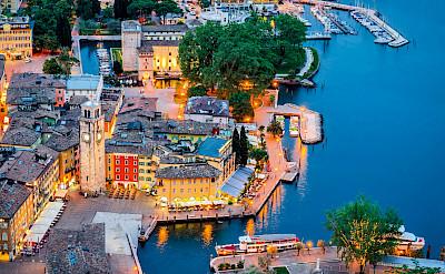 Riva del Garda on Lake Garda in Italy.