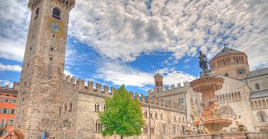 Piazza in Trento, Trentino-Alto Adige, Italy. Photo via Flickr:maurosartori