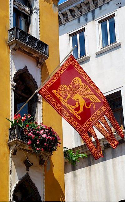 Flag of Venice, region Veneto, Italy. Flickr:svetico