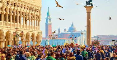 San Marco Square in Venice, Italy. Photo via Flickr:Moyan Brenn
