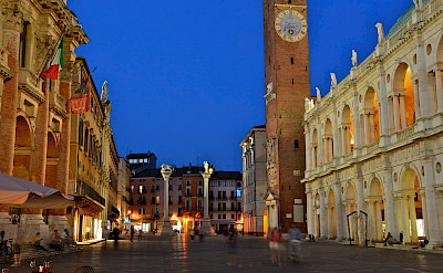 Evening in Vicenza, Italy.